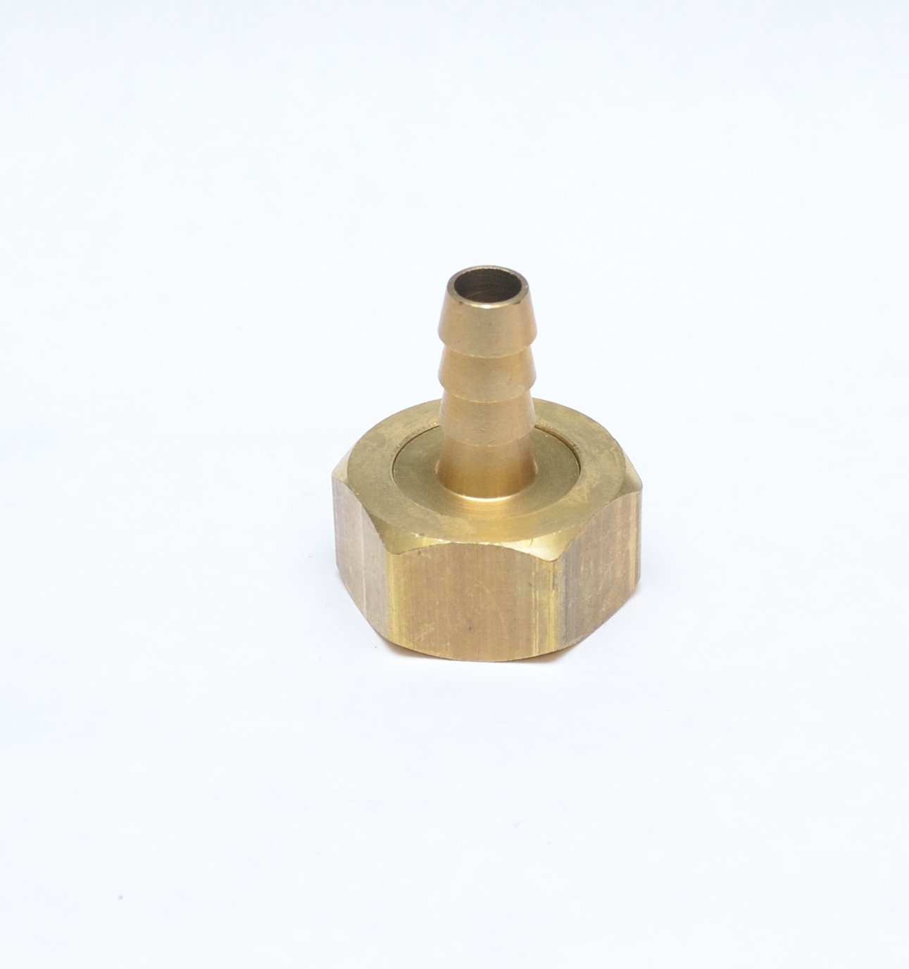 "FASPARTS 3/8"" Hose ID/Hose Barb to 3/4"" Female GHT Garden Hose Thread Straight Brass Swivel Fitting House/Boat/Lawn/Power Wash/Irrigation"