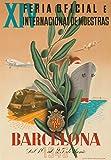 Barcelona Vintage Poster (artist: Bigorda) Spain c. 1946 (12x18 Collectible Art Print, Wall Decor Travel Poster)