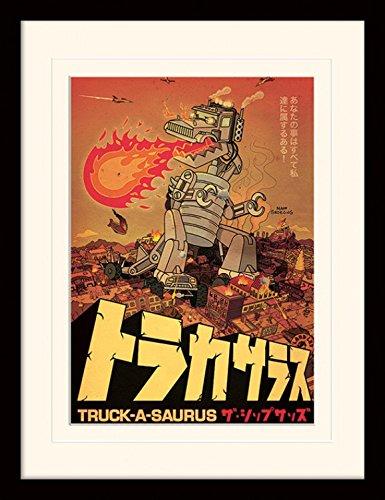 1art1 I Simpson - Truck-a-saurus Poster Da Collezione Incorniciato ...
