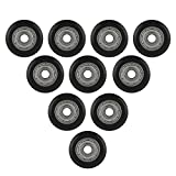 Richer-R 3D Printer Wheel Bearing, 10Pcs CNC Wheel Pulley POM with Bearings 5mm Bore Stainless Steel Bearing Provides a High Strength for 3D Printer (L)