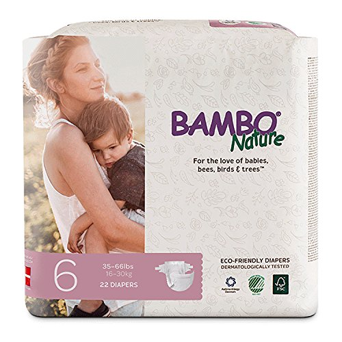 Bambo Nature Premium Baby Diapers, Size 6, 22 Count