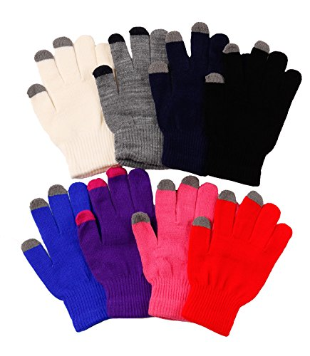 2ND DATE Women's Touch Screen Magic Gloves-ASST-Pack of 12