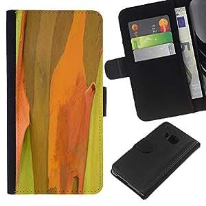 Ihec-Tech / Flip PU Cuero Cover Case para HTC ONE M7 - Plant Nature Forrest Flower 50