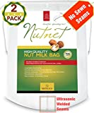 Best Nut Milk Bag-Fine Cheesecloth-Nylon Strainer-Filter Bags-Reusable Almond Milk Bag-Food Strainers