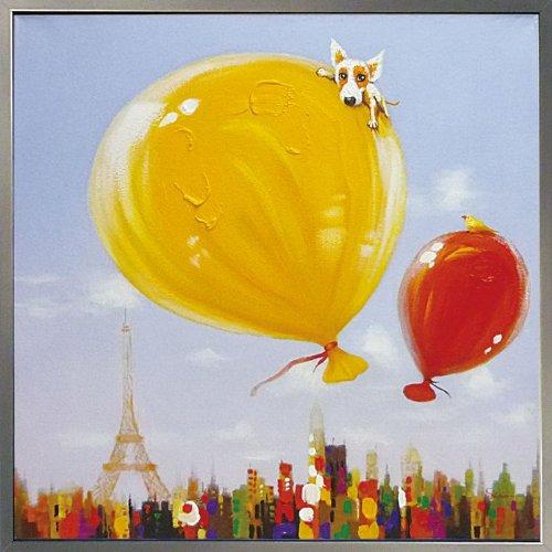 ユーパワー Oil Paint Art ハンドペイントオイルペイントアート ドッグ&ソファ OP-25052 B00O4FW6J0 W83xH83cm|ドッグ&ソファ W83xH83cm