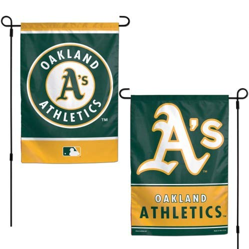 WinCraft MLB Oakland Athletics 12x18 Garden Style 2 Sided Flag, One Size, Team Color ()