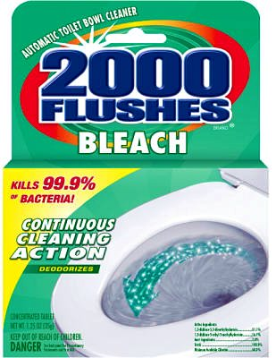 WD - 40自動Concentrated塩素290071 2000 Flushes Toilet Bowl Cleaner B00HM93SZG