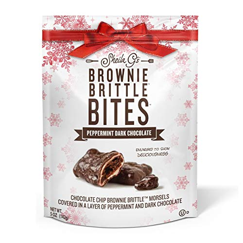 Peppermint Brownie - Brownie Brittle Holiday Peppermint Dark Chocolate - 5oz, pack of 1