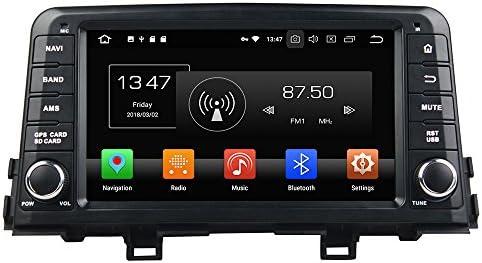KUNFINE Android 9.0 8核自動車GPSナビゲーション マルチメディアプレーヤー 自動車音響 起亜KIA Morning/Picanto 2017自動車ラジオハンドル制御WiFiブルースティスト
