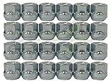 SET Group USA 24Pc Open End Lug Nuts Bulge Acorn 7/16'' For 6 Lug Chevy GMC 3/4'' Hex   7/16''-20