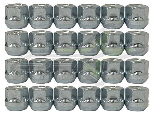 SET Group USA 24Pc Open End Lug Nuts Bulge Acorn 7/16