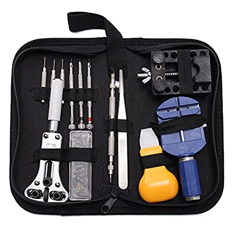 BABAN 30 PC Watch Repair Tool Kit, Watch Pins Opener Remover Watchmaker Professional Repair Tool (Cacciavite Dell'acciaio Bit)