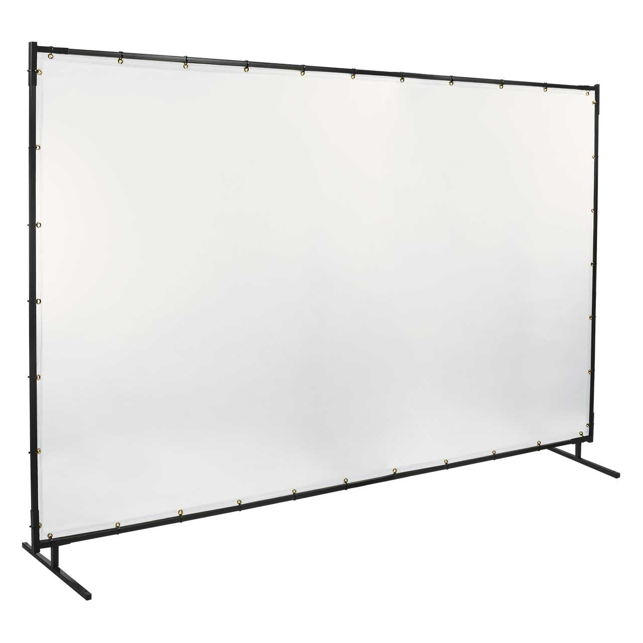 Steiner 539-6X10 Protect-O-Screen Classic Welding Screen with 16 Mil Vinyl Curtain, Clear, 6' x 10'