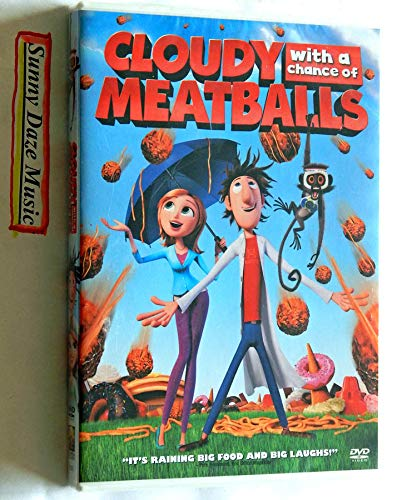 Cloudy With A Chance Of Meatballs - Widescreen + Full Screen - Columbia Pictures 2010 - A New Unopened Factory Sealed DVD Movie - Graded 9.9 By The Seller - This is for 1 DVD Only