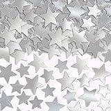 Amscan 37484.18 Star Super Mega Value Pack Confetti, Silver, 5 oz.