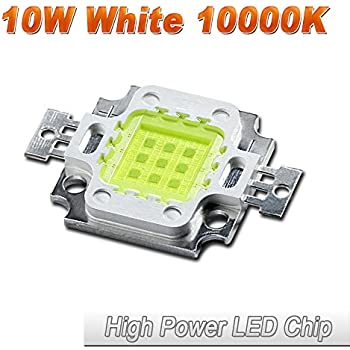Hontiey High Power LED Chip 10W Cool White Light 10000K-15000K Cold Bulbs 10 Watt Beads DIY Spotlights Floodlight COB Integration Lamp SMD
