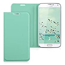 kwmobile Practical and chic FLIP COVER protective shell for Samsung Galaxy S5 / S5 Neo / S5 LTE+ / S5 Duos in mint