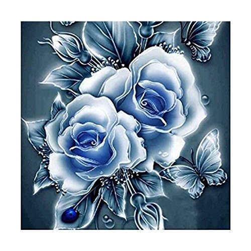 blue rose 5d diamond painting