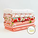 The Good Life - Coral Pink Fat Quarter Bundle (6 pcs) - Bonnie and