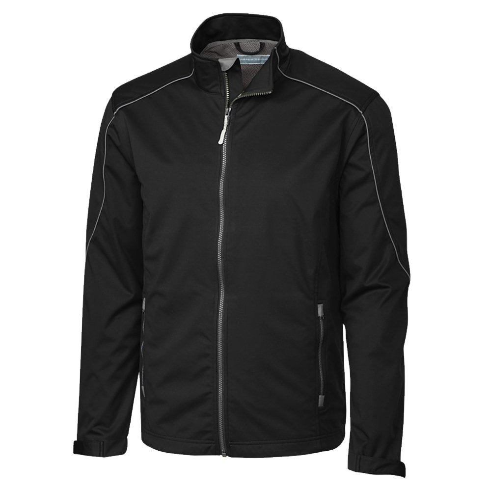 Cutter & Buck Men's Weather Resistant, Midweight Softshell Opening Day Jacket, Black, Large by Cutter & Buck