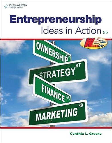 Workbook for greenes entrepreneurship ideas in action 5th workbook for greenes entrepreneurship ideas in action 5th 5th edition fandeluxe Choice Image