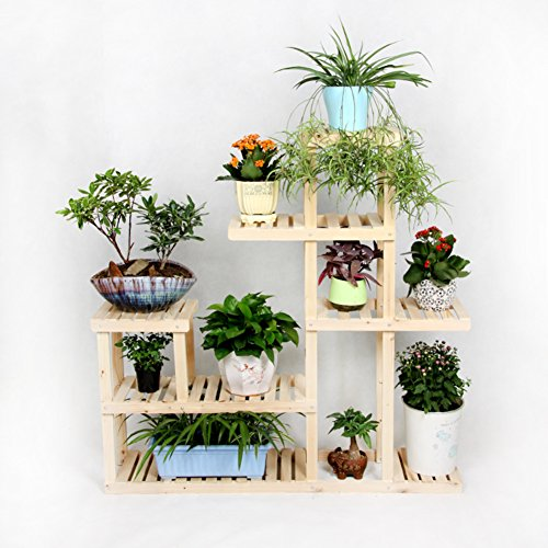 Solid wood flowerpot frame/living room balcony multi-use frame/multilayer indoor showy-A by SHDUAYGSCXS
