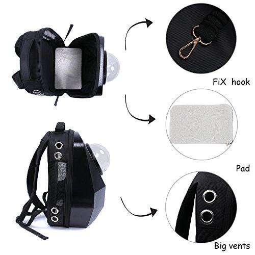 HBuir Innovative Diamond Traveler Pet Carrier Shoulder Backpack,Frosted Black