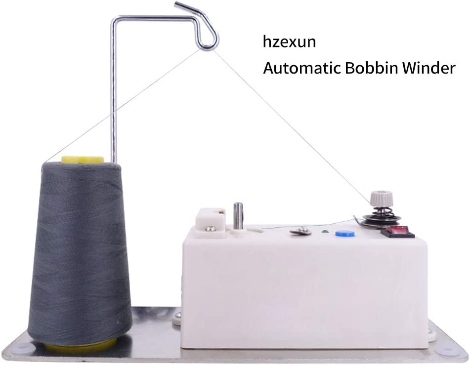 hzexun Bobinadora De Bobina Eléctrica Inteligente Automática para Herramientas De Accesorios De Bobinado De Hilo De Máquina De Coser Industrial
