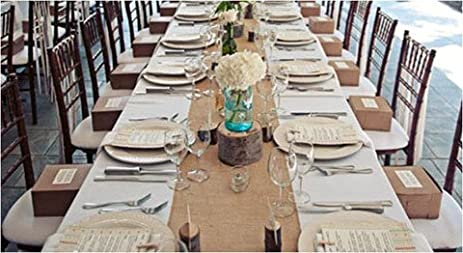 Burlap Table Runners Rustic Weddings Or Events 120x12 Inch Jute Burlap  Table Runner For Country