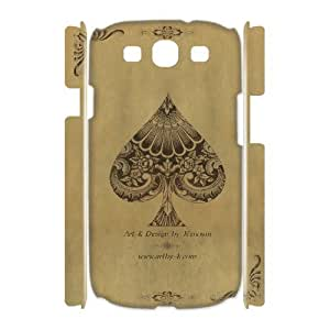 ZOEHOME Phone Case Of joker queen playing card,Hard Case !Slim and Light weight and won't fade, Scratch proof and Water proof.Compatible with All Carriers Allows access to all buttons and ports. For Samsung Galaxy S3 I9300