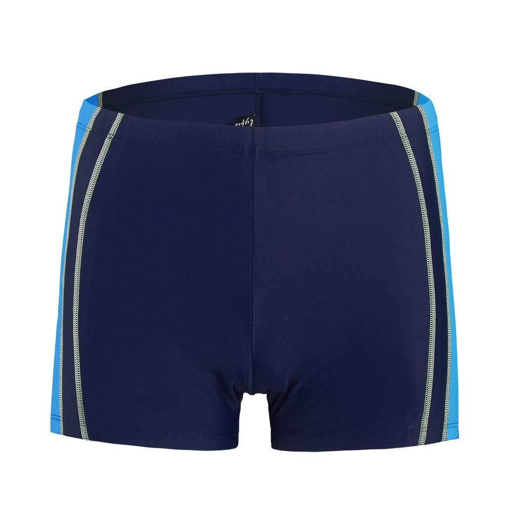 Hawaii Men Swimwear Summer Trunks Quick Dry Beach Patchwork Surfing Running Swimming Pants Asibeiul (Blue,L) by Asibeiul-men-pants (Image #3)