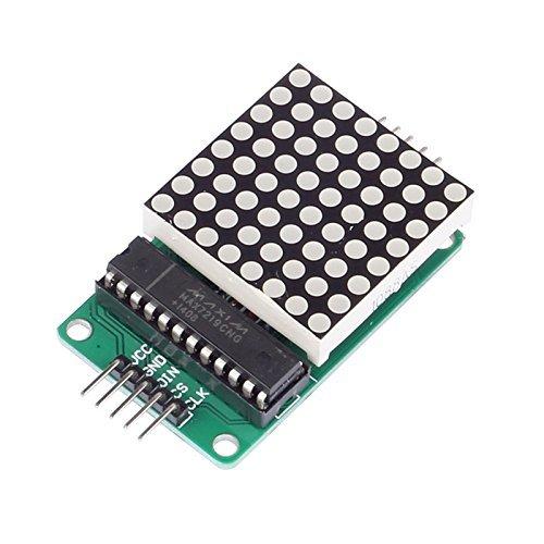 ARCELI MAX7219 Red LED Dot Matrix Display Module MCU Control DIY Kit for Arduino