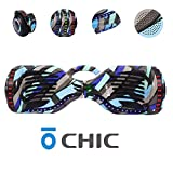 Chic Hoverboard with Handle, Bluetooth Speaker and LED Lights Self Balancing 6.5' 2 Wheel Electric Scooter Hover Hoover Board with Certified UL 2272 for Adults and Kids, Free Bag HB-ER6-BLACK