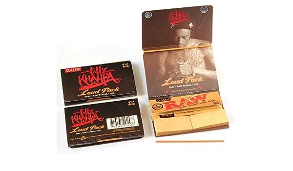 3 x Wiz Khalifa clásica Loud Pack 1 1/4 Papel De Liar + Tips + stochern Herramientas: Amazon.es: Salud y cuidado personal