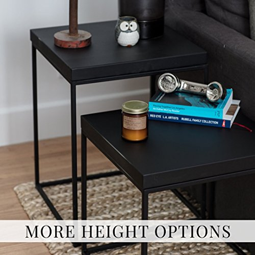 Black Welded Steel Side Table/End Table -