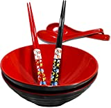 Best Bowl With Soup Spoons - Chef Miso Set of 2 Large Melamine Noodle Review