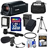 Canon Vixia HF R800 1080p HD Video Camera Camcorder (Black) with 32GB Card + Battery & Charger + Case + Filter + Tripod + LED Light + Microphone Kit FREE DIGITALUNIVERSE ACCESSORIES
