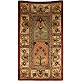 Safavieh Classic Collection CL386A Handmade Traditional Oriental Multicolored Panels Wool Area Rug (2'3'' x 4')