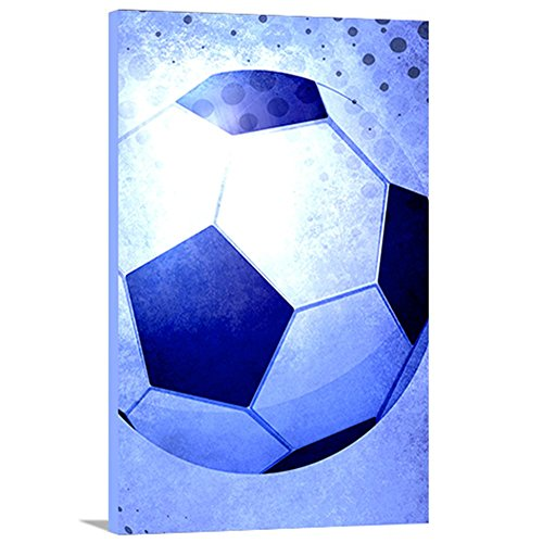 Artzee Designs Home Decor Ready to Hang Great Gift Idea Modern Sports Soccer Abstract Wall Art, 36'' x 48'', Multicolor by Artzee Designs