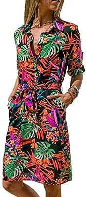 f14f740d89818 AREDC Chiffon Dress 2019 Summer Striped A-line Print Boho Beach ...