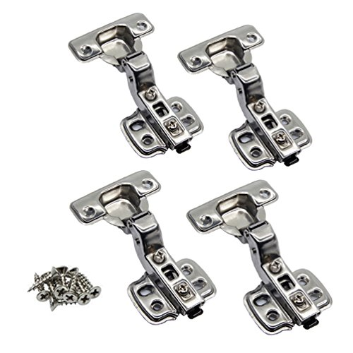 Wood Hinges Cabinet - JinHe 304 Stainless Steel Soft Slow Close Clip On Frameless Cabinet Hinges For Inset Door 2-Pairs