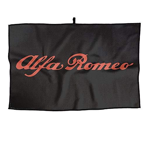 Shijingshan Alfa Romeo Logo Unisex Golf Towel Sports Microfiber 23x14 Inches Player Towel Men's Gym Face Towel