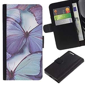 iBinBang / Flip Funda de Cuero Case Cover - Blue Spring Naturaleza - Apple Iphone 6 PLUS 5.5