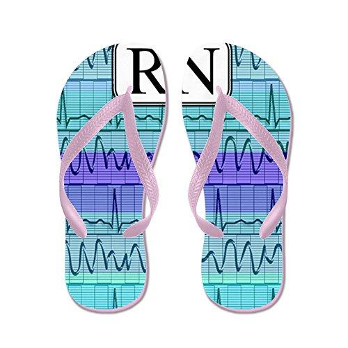 Cafepress Rn Case Blauw - Flip Flops, Grappige String Sandalen, Strand Sandalen Roze