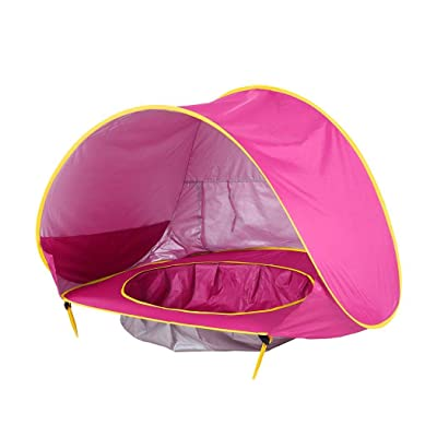 ladiy Kids Baby Games Outdoor Swimming Pool Waterproof Portable House Toys Beach Tent Shoulder Bags Rose Red: Clothing