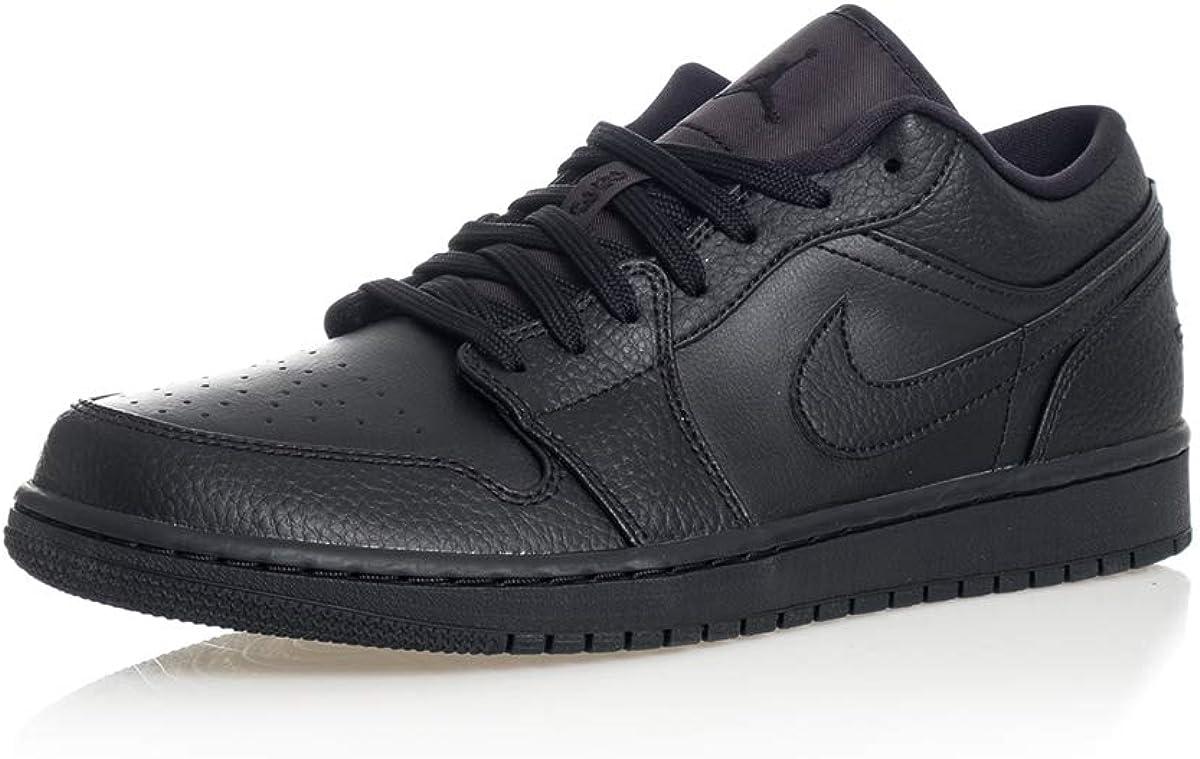 Jordan Men's Shoes Nike Air 1 Low Triple Black 553558-091