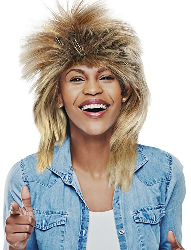 Tina Turner Wig Tina Turner Costume Wig David Bowie Wig - Blonde and Brown (The Labyrinth David Bowie Costume)