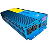 Cantonape 1500W/3000W(Peak) Pure Sine Wave Power Inverter DC 12V to 240V AC with LCD Display for Car Boat RV Solar Power