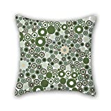 16 X 16 Inches / 40 by 40 cm Circle Pillow Cases Double