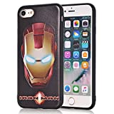 IPhone 8 Plus Case, IPhone 7 Plus Iron Man Case, Double-lin Avengers Cute Fashion Soft TPU Silicone Case Cover For Apple IPhone 7/8 Plus